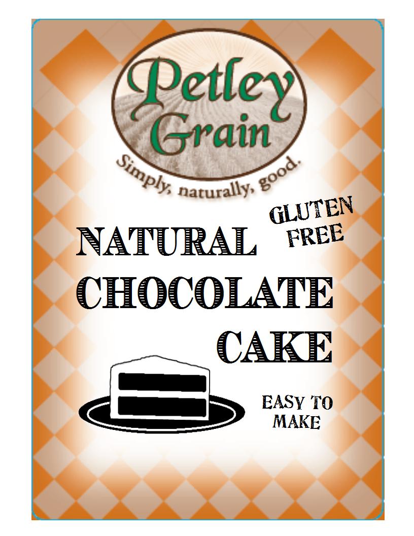 natural chocolate cake